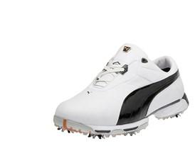 Lux Collection Zero Limits Golf Shoe in White/ Black/ PUMA Silver