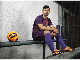 Sergio Agüero Wears the New evoSPEED 1.2 FG