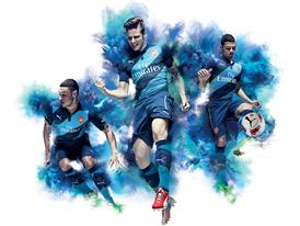 PUMA LAUNCH ARSENAL 2014-15 CUP KIT_OXLADE-CHAMBERLAIN_GIROUD_GNABRY_ACTION