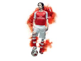 PUMA LAUNCH ARSENAL 2014-15 HOME KIT_ROSICKY