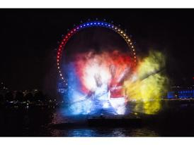 PUMA launch the new Arsenal Kit Trilogy through a spectacular Water Projection on the River Thames in London 1
