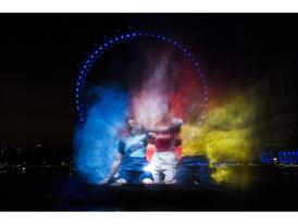 PUMA launch the new Arsenal Kit Trilogy through a spectacular Water Projection on the River Thames in London 2