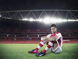 Olivier Giroud wears PUMA's new evoPOWER 1.2 FG