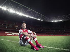 Santi Cazorla wears PUMA's evoSPEED 1.3 FG Football Boot