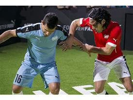 Agüero and Falcao go Head To Head, Warming Up to the Manchester Derby