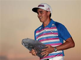 Rickie Fowler with PLAYERS Championship Trophy