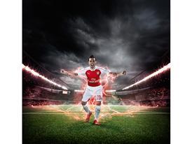 PUMA Launches the 2015-16 Arsenal Home Kit Cazorla 2