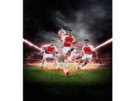 PUMA Launches the 2015-16 Arsenal Home Kit Cazorla Ozil Sanchez 2