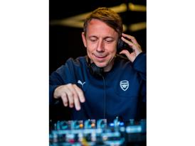 Gilles Peterson DJs at PUMA's 2015-16 Arsenal Home Kit Launch