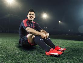 Sergio Aguero wears the new PUMA evoSPEED SL Football Boot_7