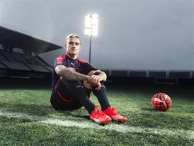 Antione Griezmann wears the new PUMA evoSPEED SL Football Boot_5