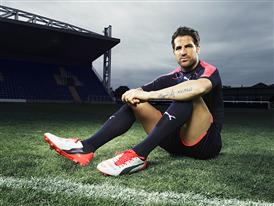 Cesc Fabregas wears the new PUMA evoPOWER 1.2 Football Boot 6
