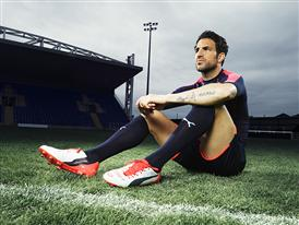 Cesc Fabregas wears the new PUMA evoPOWER 1.2 Football Boot 8