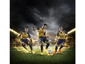 PUMA Launches the 2015-16 Arsenal Away Kit_Sanchez_Wilshere_Cazorla