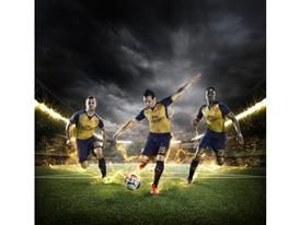 PUMA Launches the 2015-16 Arsenal Away Kit_Wilshere_Cazorla_Welbeck