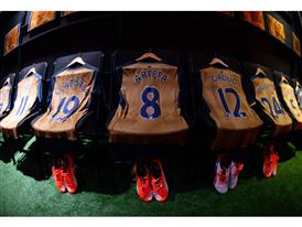 The new PUMA Arsenal Away Shirts waiting to be worn