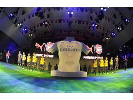PUMA and Arsenal present the new Away Kit for the 2015-16 season in Singapore 2
