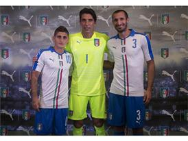 Verratti, Buffon & Chiellini at the PUMA Away Kit Launch in Florence