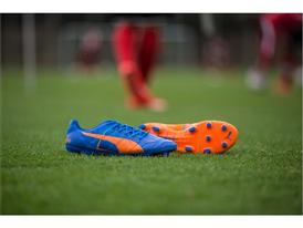 PUMA Launched the new H2H Duality evoPOWER Football Boots in Orange and Blue_2