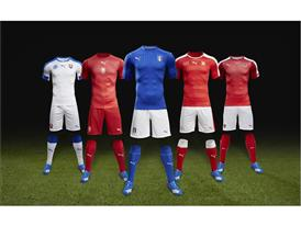 PUMA Launches European Home Kits for Italy, Czech Republic, Switzerland, Austria & Slovakia