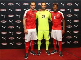 Arnautovic, Oezcan & Alaba at the PUMA Home Kit Launch Event in Vienna