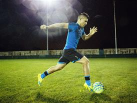Sergio Aguero wears the new evoSPEED SL 3
