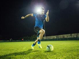 Sergio Aguero wears the new evoSPEED SL 6