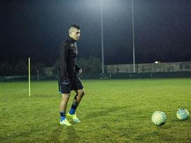 Sergio Aguero wears the new evoSPEED SL 8