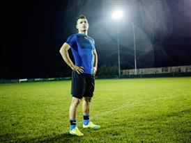 Sergio Aguero wears the new evoSPEED SL 9