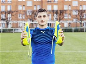Marco Verratti wears the new evoSPEED SL 6