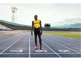 Usain Bolt wears the new PUMA evoSPEED DISC SPIKE