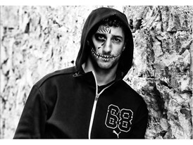 Daniel Ricciardo plays acrobatic role in the Mexican 'Day of the Dead' ceremony in the PUMA Offendrome