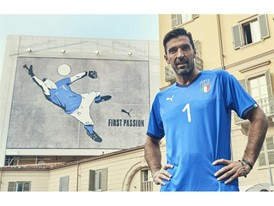 Buffon graffiti wall in Turin