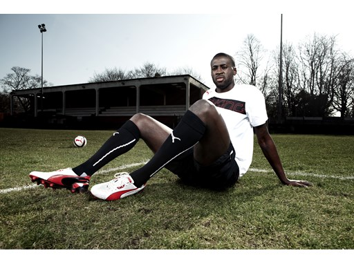 Yaya Touré wears the latest PUMA King Football Boots