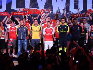 PUMA Unveils Arsenal Away and Third Kits During USA Tour