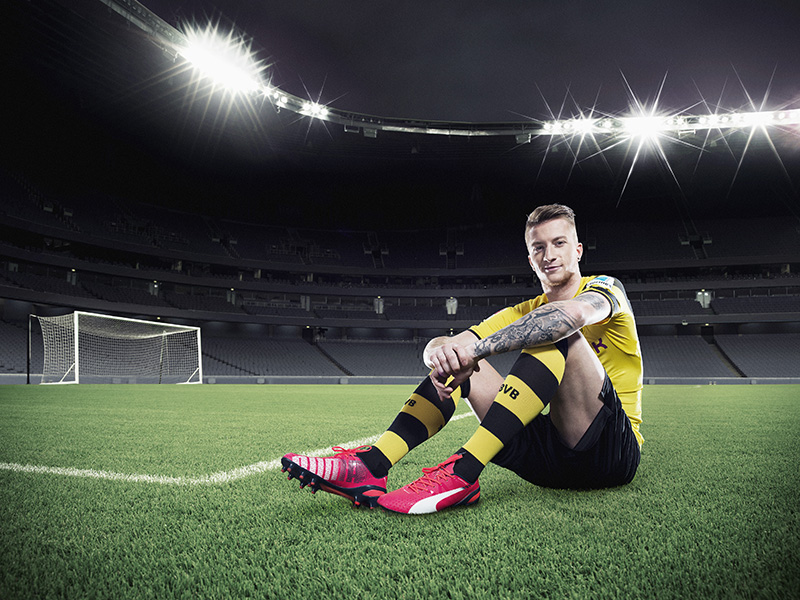 Marco Reus wears PUMA's new evoSPEED 1.3 Football Boot