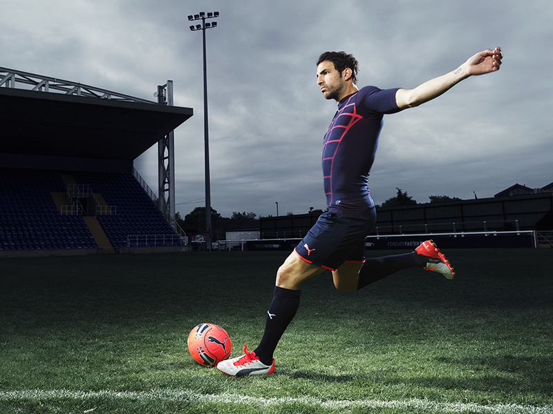 Cesc Fabregas wears the new PUMA evoPOWER 1.2 Football Boot 1