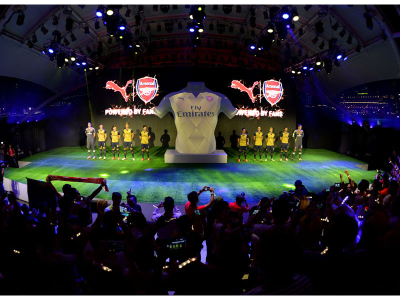 PUMA and Arsenal present the new Away Kit for the 2015-16 season in Singapore