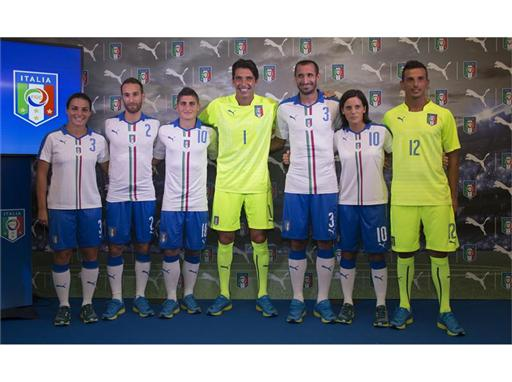 FIGC Players at the PUMA Italy Away Kit Launch Event in Florence