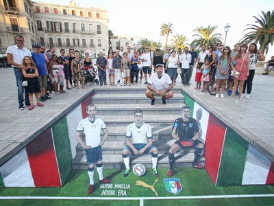 PUMA & FIGC PRESENT NEW ITALY AWAY KIT THROUGH 3D STREET ART