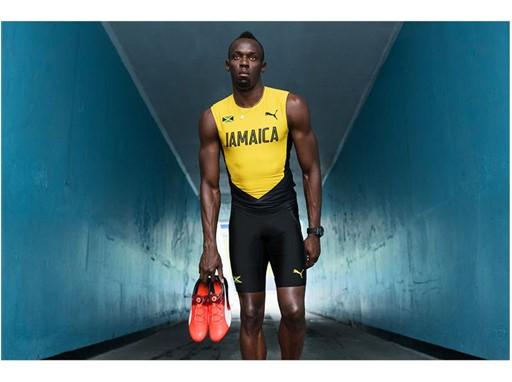 Usain Bolt wears the new PUMA evoSPEED DISC SPIKE