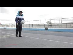 Star Striker Sergio Agüero Takes his Tricks to the Track in a Race Off with Formula 1 Driver Nico Rosberg